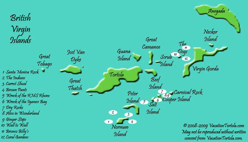 Scuba Diving Map
