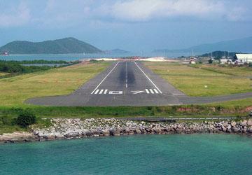 Landing on Beef Island