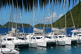 Catamarans in the Marina