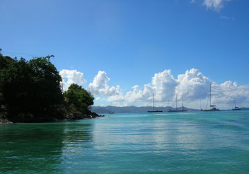 View from the Tortola ferry